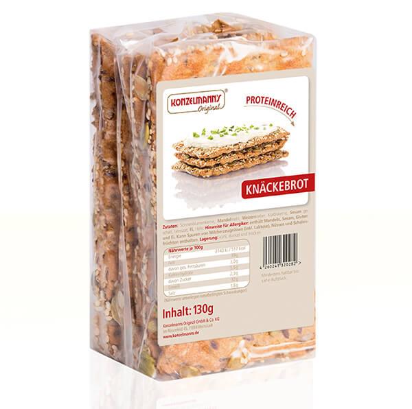 Konzelmanns Original Low-Carb Knäckebrot 130 g Packung kaufen. Low Carb Knäckebrot online bestellen. Konzelmanns Original Low-Carb Knäckebrot online kaufen