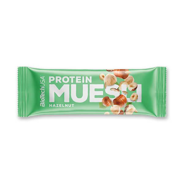 BioTech USA Protein Muesli Müsliriegel Haselnuss 30 g kaufen im Shop. 3 g Protein / 30 g Riegel, Vitamine, Mineralstoffen. BioTech USA Protein Muesli kaufen