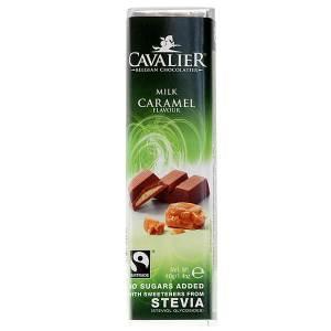 Cavalier Stevia Schokoriegel Milk Caramel Milch Karamell 40 g online kaufen. Zuckerfreie Schokolade, Cavalier Stevia Schokoriegel Milch Karamell kaufen!