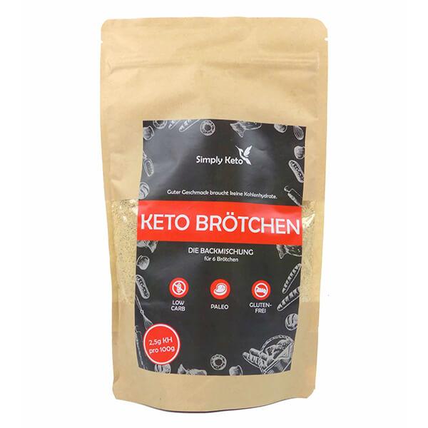 Simply Keto Brötchen glutenfrei laktosefrei keto paleo Backmischung 310 g kaufen. 2,5 g KH, 100% Paleo, Keto, glutenfrei & zuckerfrei. Simply Keto Brötchen!