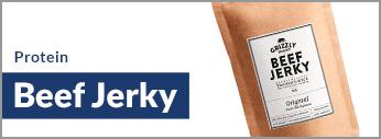 Zuckerfrei Protein Beef Jerky kaufen. Trockenfleisch online kaufen im Onlineshop.