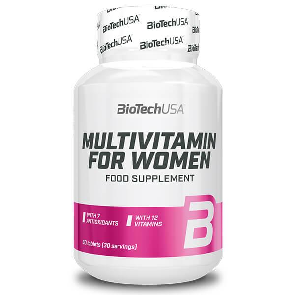 BioTechUSA Multivitamin for women 60 Tabletten Vitamin Präparat. Hochdosiertes Multivitamin präparat mit Mineralien & Spurenelementen online kaufen!