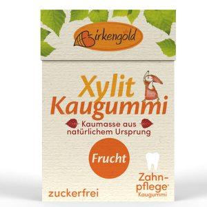 Birkengold Xylit Kaugummi mit natürlicher Kaumasse Frucht 28 g Flip Top kaufen. Xylit Kaugummi kaufen von Birkengold, gesüßt mit zahnfreundlichem Birkenzucker