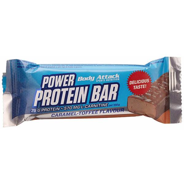 Body Attack Power Protein Bar Proteinriegel Sportriegel Karamell-Toffee 35 g. Body Attack Power Protein Bar Proteinriegel kaufen mit 9g Eiweiß, Vitamine,...