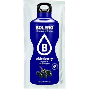 Bolero Instant Holunderbeere Getränkepulver. Bolero Instant im 9 g Beutel kaufen! Bolero Instant Erfrischungs Getränkepulver Beutel für fertiges Getränk