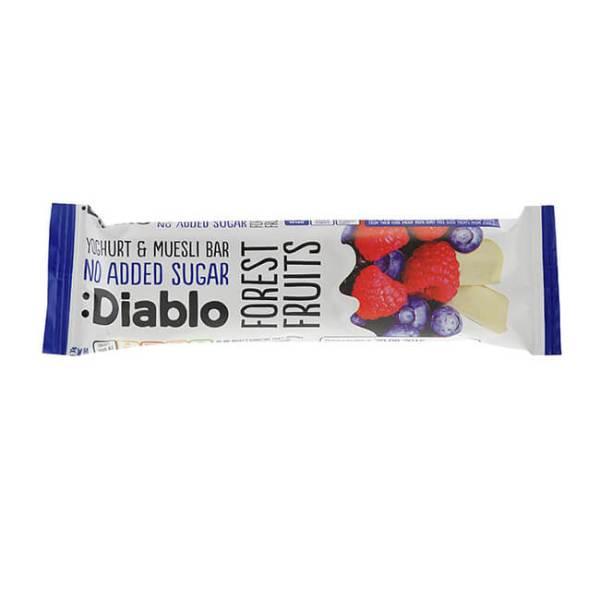 Diablo Müsliriegel ohne Zuckerzusatz Waldfrucht-Joghurt 30 g online kaufen. Diablo Müsli Riegel ohne Zuckerzusatz. Idealen Müsliriegel Low Carb Snack kaufen