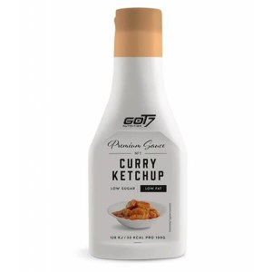 GOT7 Nutrition Premium Sauce Curry Ketchup 240 ml kaufen. Low Carb Curry Ketchup kaufen. GOT7 Ketchup kaufen. 100% Geschmack, Low Carb und glutenfrei!