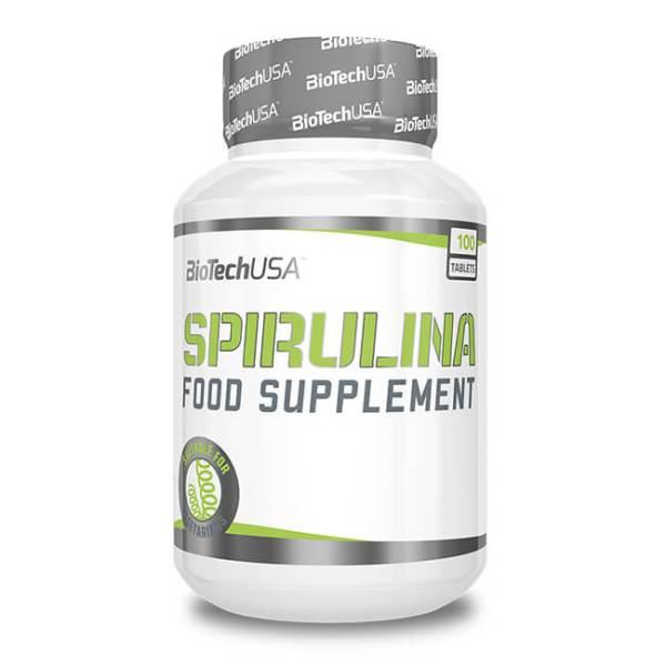 BioTech USA Spirulina Nahrungsergänzung 100 Tabletten kaufen. Spirulina Kapseln online kaufen. 1800 mg Spirulina (Arthrospira platensis) / Portion / Kapsel