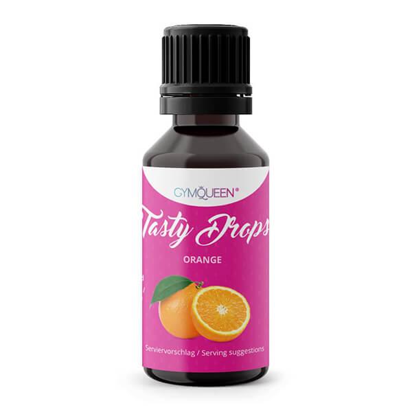 GymQueen Tasty Drops Orange 30 ml kaufen. GymQueen Flavour Drops kaufen. OHNE Kalorien, Zucker, Fett, KH, uvm. Flavour Drops online kaufen!