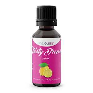 GymQueen Tasty Drops Zitrone 30 ml kaufen. GymQueen Flavour Drops kaufen. OHNE Kalorien, Zucker, Fett, KH, uvm. Flavour Drops online kaufen!