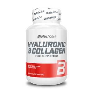 BioTech USA Hyaluronic & Collagen Nahrungsergänzung 30 Kapseln. Hyaluronsäure und Collagen werden seit Jahren in der Schönheitsindustrie verwendet.