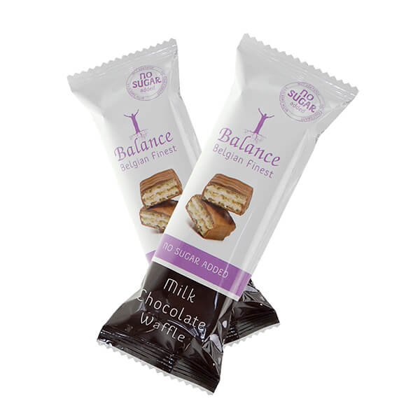 Balance Milk Chocolate Waffle Proteinwaffel ohne Zuckerzusatz 30 g | jetzt online kaufen und die exquisiten Waffeln mit Milchschokoladeüberzug genießen