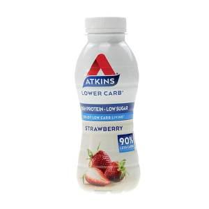 Atkins Ready to Drink Proteinshake Erdbeere verzehrfertig 330 ml.Trinkfertiger Proteingenuss mit leckerem Erdbeer-Geschmack. High Protein!
