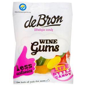 De Bron Wine Gums Weingummi 100 g. Herzhafte, glutenfreie, zuckerfreie Süßigkeiten mit weniger Kalorien und köstlichem Geschmack.