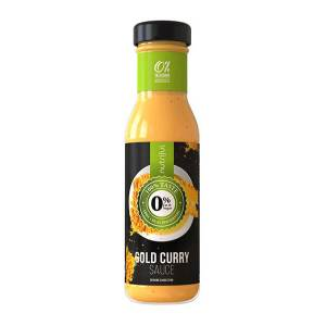 Nutriful Gold Curry Sauce Dressing Glasflasche 250 ml. Köstliches Dressing mit 2 Kalorien pro Portion. Low Carb! Echter Geschmack.