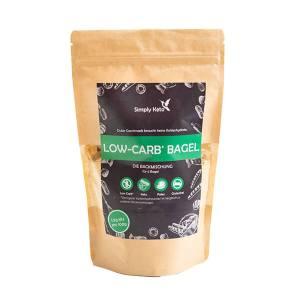 Simply Keto Low Carb Bagel Backmischung für 6 Stück Bagel glutenfrei laktosefrei 335 g Beutel. Hochwertige Low-Carb-Backmischung. Einfache Zubereitung!