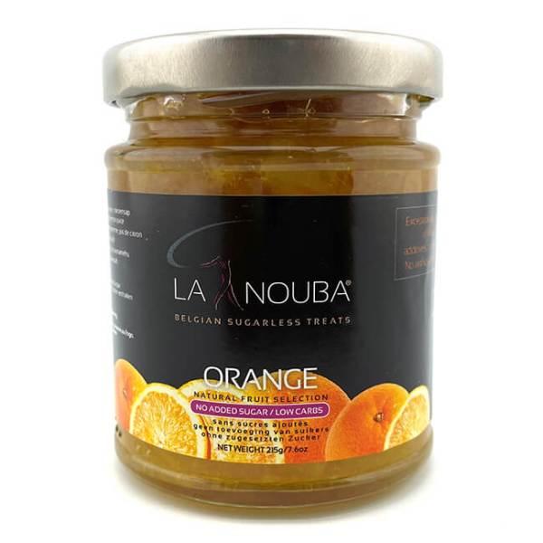 La Nouba Natural Fruit Selection Premium Fruchtaufstrich ohne Zuckerzusatz 215 g Orange. Erlesene Früchte verarbeitet in einem köstlichen Fruchtaufstrich.