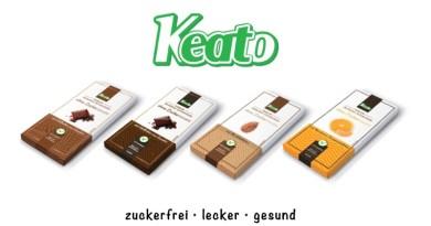 Keato Schokolade ohne Zucker Zuckerfreie Schokolade für Diabetiker