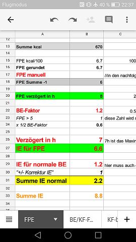 Ergebnis FPE Berechnung