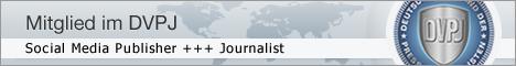 Mitglied im DVPJ - Deutscher Verband der Pressejournalisten