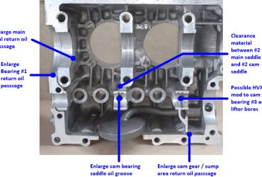 Various internal case mods to VW Type 1 Engine