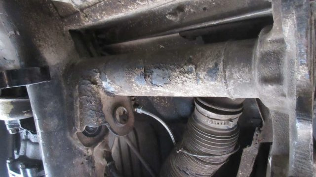 1979 VW Beetle - Torsion Bar Housing Undercoating