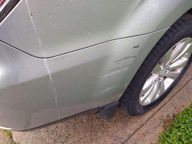 Subaru Forester - Passenger Rear Paint Scrape