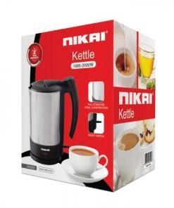 NK662N BOX 550x550h - Nikai Kettles Steel 1.7L 2000W NK662N