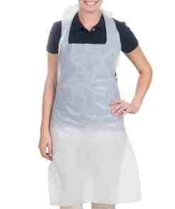 28 x 46 disposable heavyweight white poly apron 1 0 mil 100 box1 - Disposable Aprons
