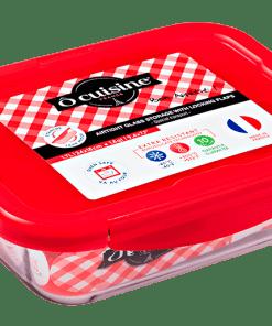 RECT GO packed - OCUISINE RECTANGULAR DISH + RED LID 2.6L 28X20X8CM 216PC00/1045