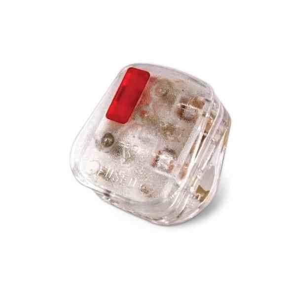 TR5300TNC 1 - Tronic 13A Top Plug Transparent With Neon / Colour