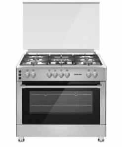 U9066FS 475x475 1 - Nikai Cooker 90x60 Full Gas 5 Gas Burner Glass Lid SS Inox Sides U9066FS