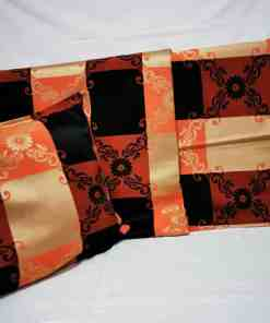 WhatsApp Image 2020 06 03 at 7.43.30 PM 1 - Bed Spread + 2 Pillow Case Peach/ Black Floral Double Bed Size