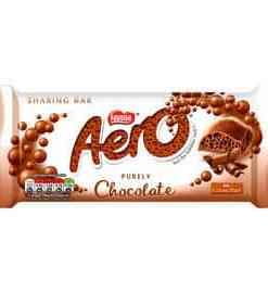 aero milk chocolate sharing bar 90g 74695 T1 1 - Aero Milk Chocolate Sharing Bar 90g