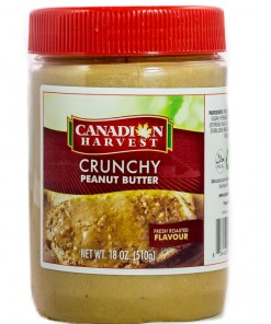 f46586902c06fc8113a9597ccced12ed - Canadian Harvest Peanut Butter Crunchy Jar 510g