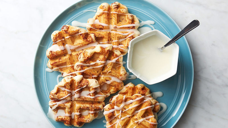 Cinnamon Roll Waffles With ZUGA Natural Erythritol