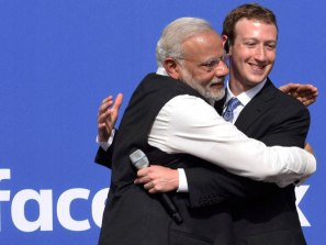 modi with FB creator