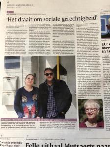 """Krantenartikel over de voorstelling 'Story of a migrant"""""""