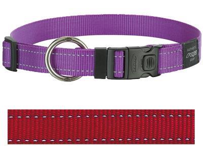Rogz for dogs lumberjack halsband rood