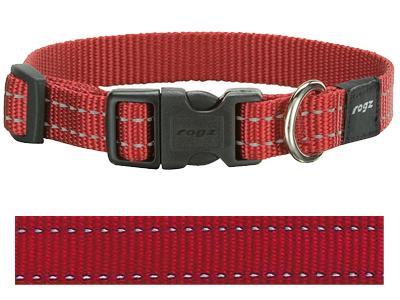 Rogz for dogs snake halsband rood