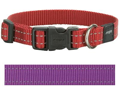 Rogz for dogs snake halsband paars
