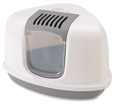 Savic hoek kattenbak nestor grijs / wit