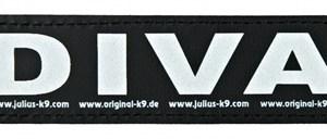 Julius k9 labels voor power-harnas / tuig diva