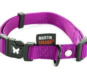 Martin sellier halsband nylon paars verstelbaar