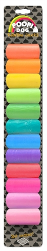 D&d poopi-dog poepzakjes regenboog kleuren