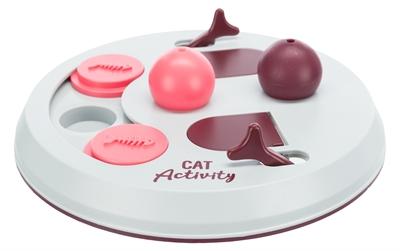 Trixie cat activity flip board bes / roze / lichtgrijs