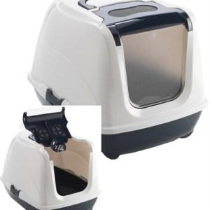 Moderna kattenbak flip cat jumbo donkerblauw