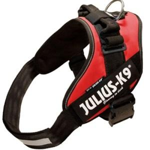 Julius k9 power-harnas/tuig voor labels rood