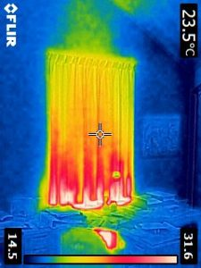 Gordijn boven de radiator