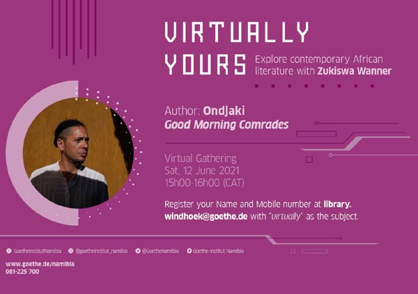 June 12: Virtually Yours with Ondjaki